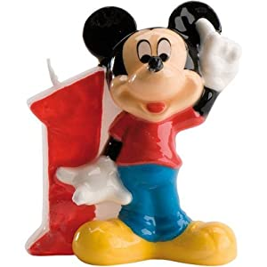 Mickey Mouse Number 1 Birthday Candle