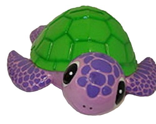 Pink and Green Bobble Head Sea Turtle Savings Piggy Bank