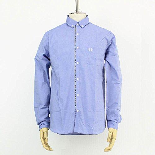 (フレッドペリー) FRED PERRY END ON ENDシャツ [F4327] 12 SAXE BL M