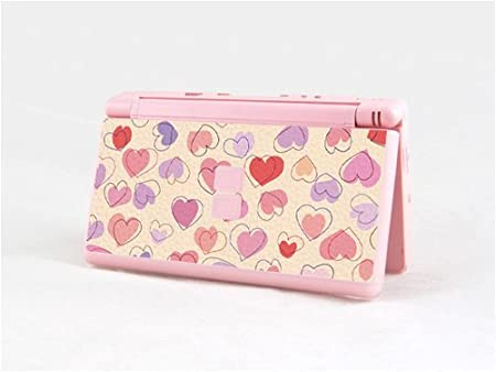 PINK HEART Decorative Protector Skin Decal Cortex Sticker for Nintendo DSL
