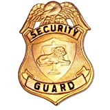 """HWC SECURITY SPECIAL PRIVATE GUARD OFFICER BADGE SHIELD IDENTIFICATION GOLD FINISH 2-1/2"""" x 2-1/2"""", High Quality, Low Cost Badge !"""