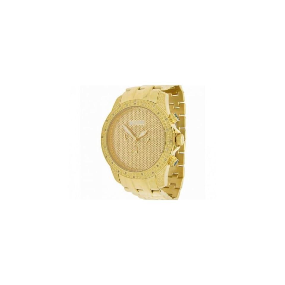 JoJino Mens Yellow Gold Diamond Watch 0.25ctw IJ1122