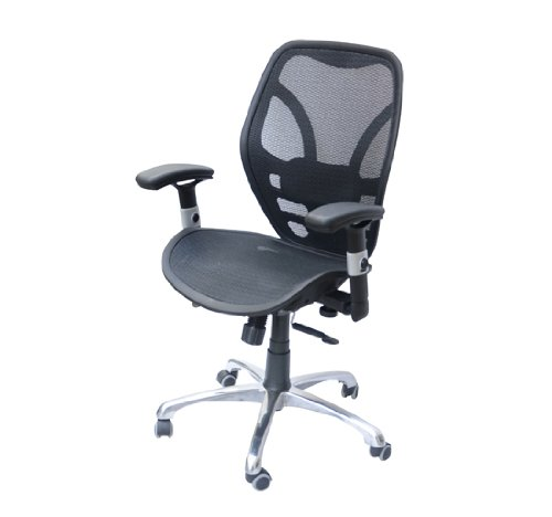 Homcom Black Deluxe Mesh Ergonomic Office Chair Seating Desk Computer Task Chairs front-369473