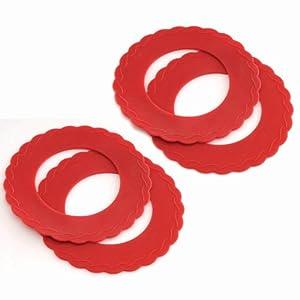 Norpro 3280 Silicone Mini Pie Pan Shields, Set of 4 by Norpro