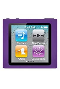HHI iPod Nano 6th Generation Silicone Looper Skin Case - Dark Purple