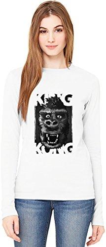 King Kong 1933 T-Shirt da Donna a Maniche Lunghe Long-Sleeve T-shirt For Women| 100% Premium Cotton Ultimate Comfort Large