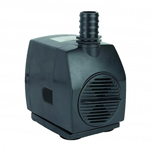Jebao submersible fountain pump wp 3500 1320gph pond water for Best pond pumps