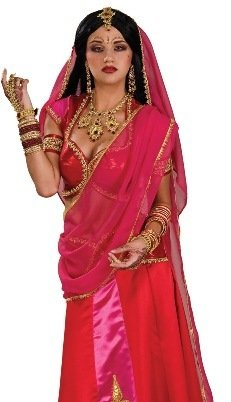 Amazon.com: Rubie's Costume Bollywood Beauty Costume, Red/Pink/Gold