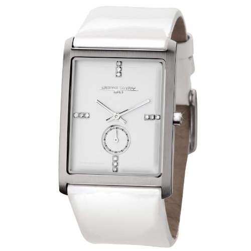 Jorg Gray Ladies Analogue Watch JG2600-31 with White Dial and Leather Strap