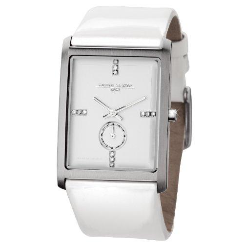 Jorg Gray JG2600-31 - Reloj analógico de cuarzo para mujer, correa de cuero color blanco