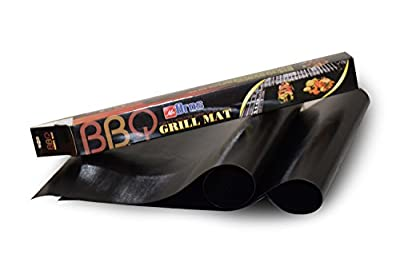 "Heavy Duty Non Stick BBQ Grills Baking Cooking Mats (16"" X 13"" Fiberglass Reusable Grilling Mats Work on Gas Charcoal Ovens Electric Grill Durable Heat Resistant Easy Clean Dishwasher Safe"