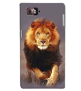 Fuson Premium Hunting Lion Printed Hard Plastic Back Case Cover for Lenovo Vibe Z2 Pro K920