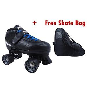 Epic Super Nitro Blue Adults Quad Indoor Roller Skates - Epic Speed Skates by Epic Skates
