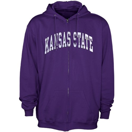 NCAA Kansas State Wildcats Bold Arch Full Zip Hoodie - Purple (XXXX-Large) Amazon.com