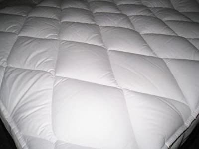 The Bettersleep Company Hotel Quality Supersoft Polycotton Box Stitched Quilted Mattress Toppers Double Bed - Extra comfort & Anti Allergenic