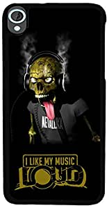 PrintVisa Quotes Music Skull Back Cover for HTC Desire 820 (2D-HTCD820-D8043)