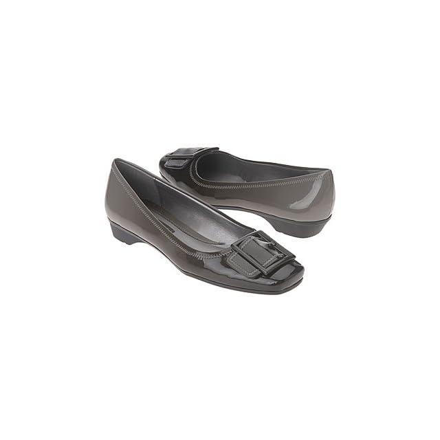 f6f017c260940 Liz Claiborne Pearl Grey Black Patent Flat (7M) Shoes on PopScreen