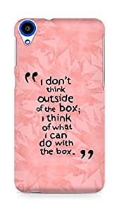 AMEZ i dont think out of the box Back Cover For HTC Desire 820