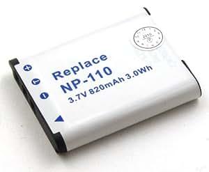 Batterie compatible pour Casio Exilim EX-FC200S, EX-Z3000, EX-Z3000BN, EX-Z3000PK, EX-Z3000RD, EX-Z3000SR, EX-ZR10, EX-ZR15, EX-ZR15BK, EX-ZR15GD, EX-ZR15RD, EX-ZR15WE, EX-ZR20, EX-ZR20BK, EX-ZR20PE, EX-ZR20SR, EX-ZR20WE, EX-ZR20WH, Zoom EX-Z2000, Zoom EX-Z2000BK, Zoom EX-Z2000PK, Zoom EX-Z2000RD, Zoom EX-Z2000SR, Zoom EX-Z2000VT, Zoom EX-Z2200, ZOOM EX-Z2300, ZOOM EX-Z2300BE, ZOOM EX-Z2300BK, ZOOM EX-Z2300GD, ZOOM EX-Z2300PE, ZOOM EX-Z2300PK