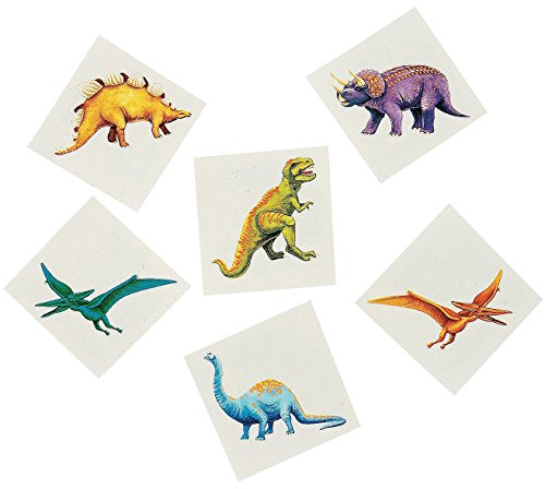 Dinosaur Temporary Tattoos - 72 ct