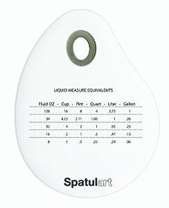 Tovolo Spatulart Measurement Conversion Bowl Scraper - White