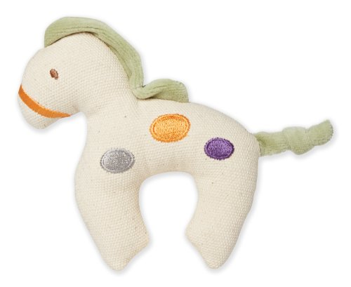 My Natural Canvas Knit Teether, Green Horse - 1