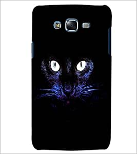 PrintDhaba Cat Eyes D-2846 Back Case Cover for SAMSUNG GALAXY J7 (Multi-Coloured)