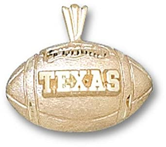 Texas Longhorns Texas Football Pendant - 14KT Gold Jewelry by Logo Art