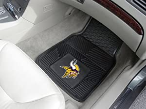 NFL Minnesota Vikings Black 2-Piece Vinyl Car Mat Set by Hall of Fame Memorabilia
