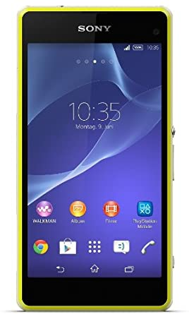 Sony Xperia Z1 Compact Smartphone (10,9 cm (4,3 Zoll) HD-TRILUMINOS-Display, 2,2GHz, 2GB RAM, 20,7 Megapixel Kamera, Android 4.3) lime