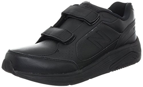 New Balance Men's MW928 Leather Hook/Loop Walking Shoe,Black,11.5 D US (New Balance Walking Shoes Velcro compare prices)