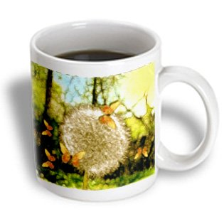 Mug_23343_1 Smudgeart Flower Art Designs - Puff Ball Dandelion - Mugs - 11Oz Mug