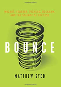 """Cover of """"Bounce: Mozart, Federer, Picass..."""