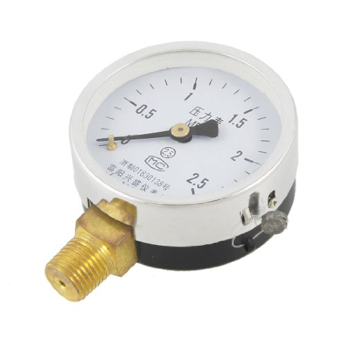 Black Hand Round Dial Arabic Number 0-2.5 Mpa Air Water Pressure Gauge front-40521