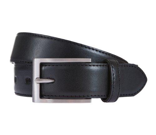 LLOYD Cintura di uomini Cintura di pelle nero 175, Länge:130 cm;Farbe:schwarz