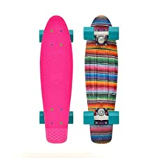Penny Graphic Complete Skateboard, Baja Pink, 22-Inch Athletics, Exercise, Workout, Sport, Fitness