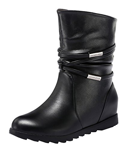Guciheaven Winter Keep Warm Simple Graceful Short Boots(5.5 B(M)Us, Black)