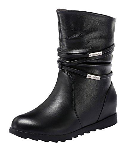 Guciheaven Winter Women Warm Sexy String Add Wool Martin Boots(9 B(M)US, Black)
