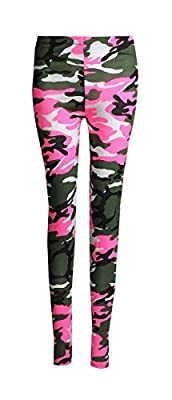 Forever Women's Plus Size Camouflage Army Print Jersey Leggings