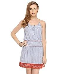 Halter Neck Striped Dress X-Small