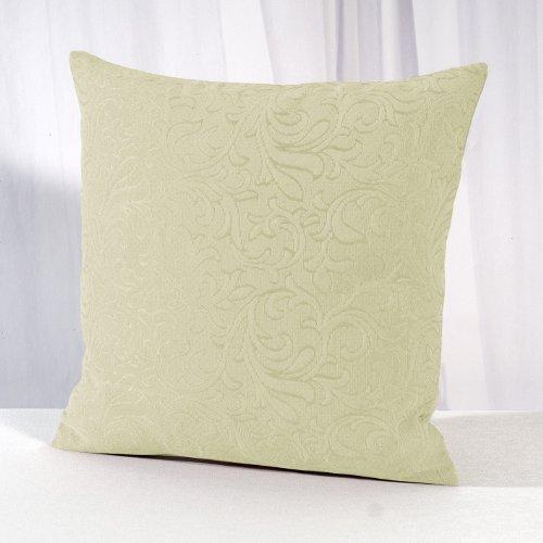 """Festlicher Kissenbezug mit Baumwolle """" Klassiker """" in weiß mit dekorativen Ranken - Größe 40 x 40 - es gibt auch die passende Tischdecke im gleichen modischen Design"""