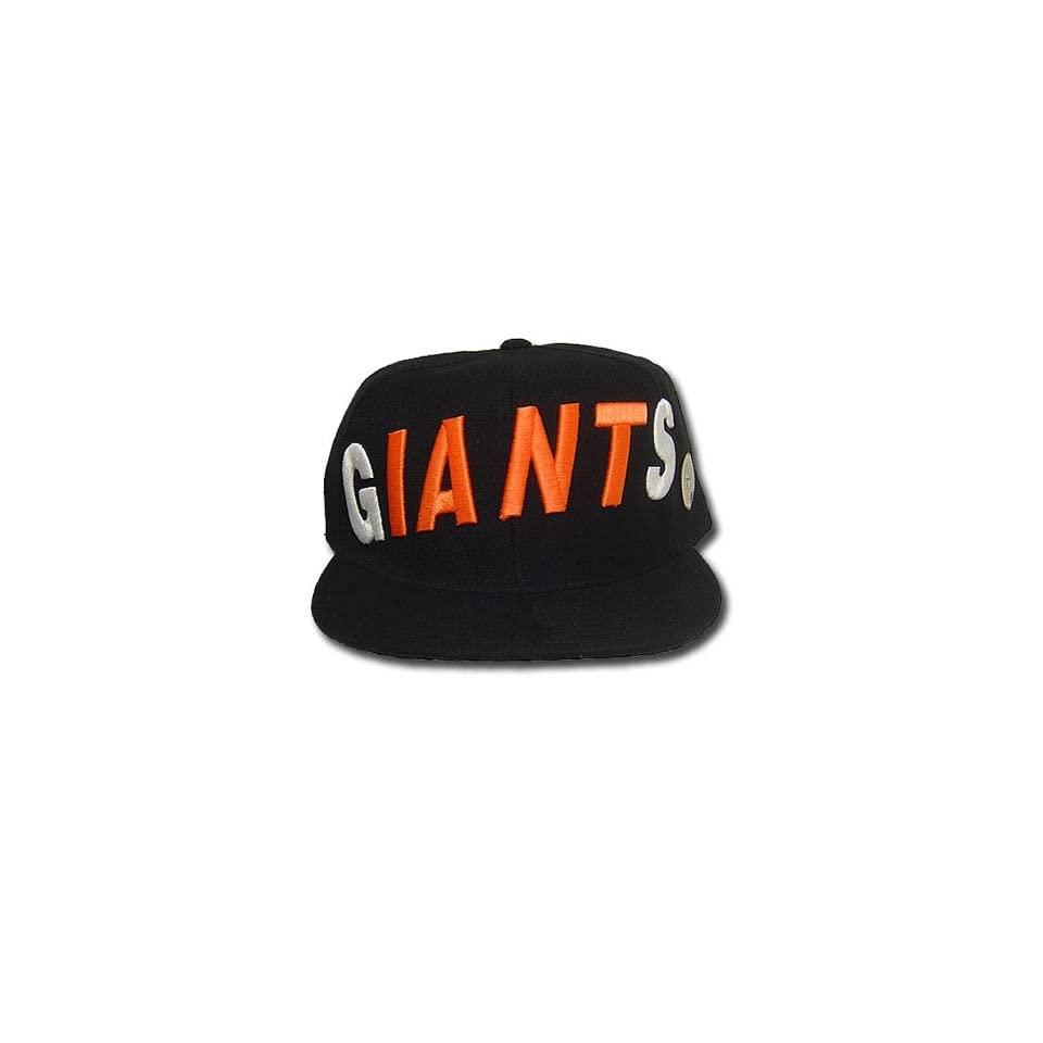 MLB SAN FRANCISCO GIANTS FLAT BILL HAT CAP BLACK 7 1/4