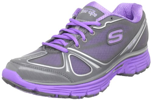 Skechers Women's Tone-Ups Fitness Ready Set - Excite Charcoal/Purple Training Shoes 11760 2 UK