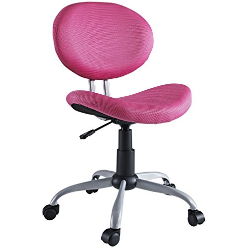 LexMod Comfort Groove Swivel Mesh Task Chair in Pink