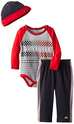 Quiksilver Baby-Boys Infant Red Long Suit With Gray Pull On Pants, Multi, 18 Months front-306712