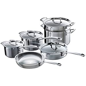 Le Creuset Tri-Ply Stainless Steel Cookware Set, 10-Piece
