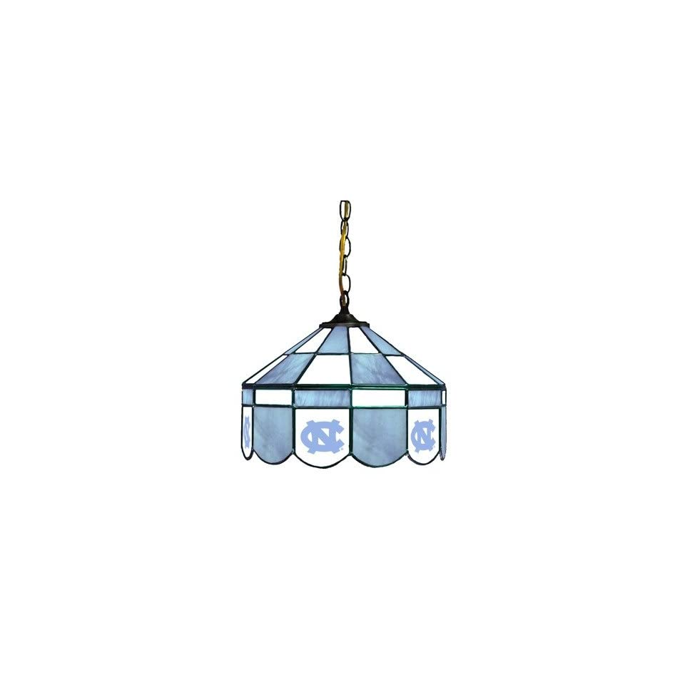 Sports Fan Products 7904XS UNC NCAA North Carolina Tar Heels 14 Executive Style Stained Glass Swag Lamp