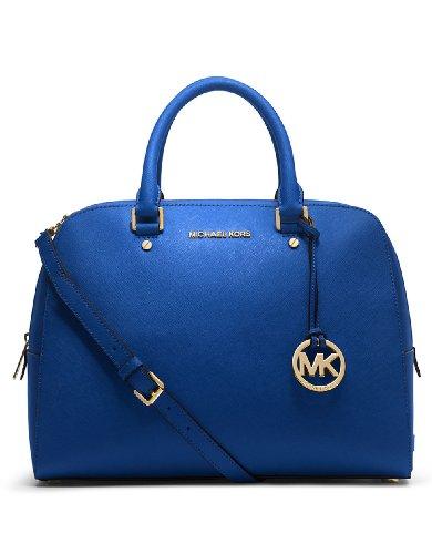 MICHAEL Michael Kors Jet Set Travel Large Satchel Sapphire - MICHAEL Michael Kors Designer Handbags