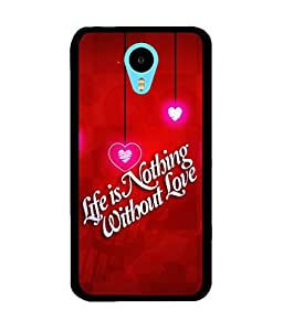 Fuson 2D Printed Love Quote Designer back case cover for Meizu M1 Note - D4355