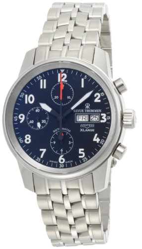 Revue Thommen Airspeed 16051.6137 40mm Automatic Silver Steel Bracelet & Case Anti-Reflective Sapphire Men's Watch
